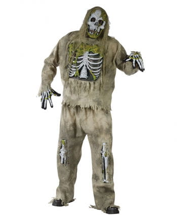Skeleton Zombie 3D Deluxe Costume XL