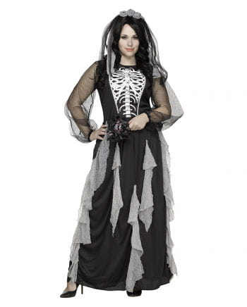 Skeleton Bride women's costume PLUS SIZE