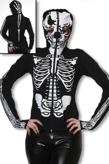 Skeleton Hoodie with skull mask