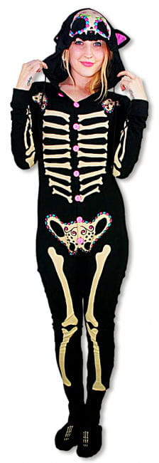 Skeleton Pyjamas Kitty