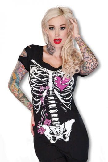 Skeleton shirt black