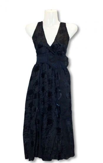 Black summer dress with Flock Print