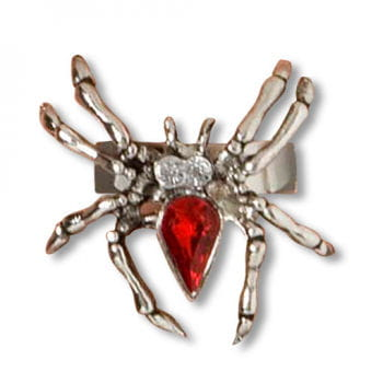 Spider Ring With Rhinestone