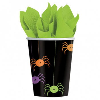 Paper Cups with Spider Motif