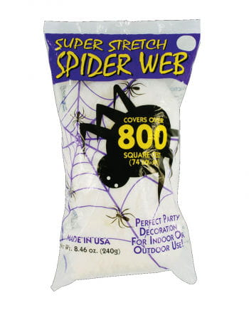 Halloween cobwebs white 240g