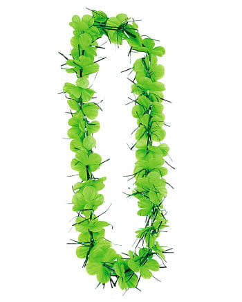 Tinsel lei lime green
