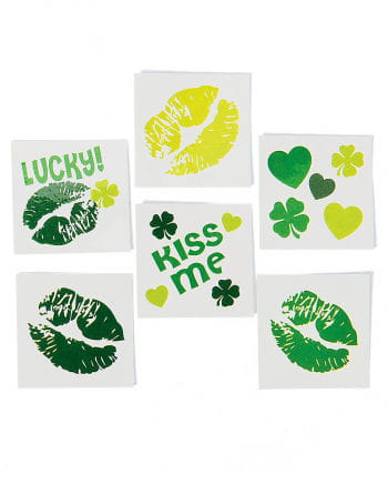 St. Patricks Day Kiss Tattoos