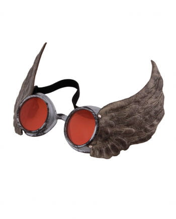 Steampunk goggles Cap Silver