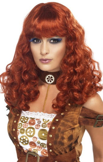 Steampunk Wig Copper Red