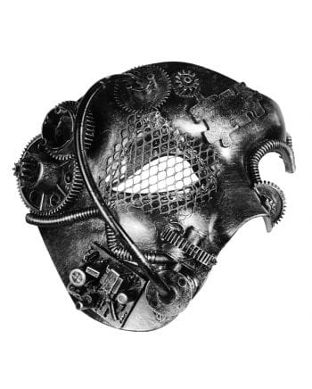 Steampunk Phantom Mask Silver