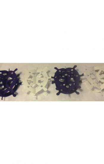 Steering garland white / blue