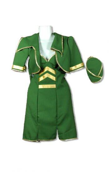 Stewardess Costume Green