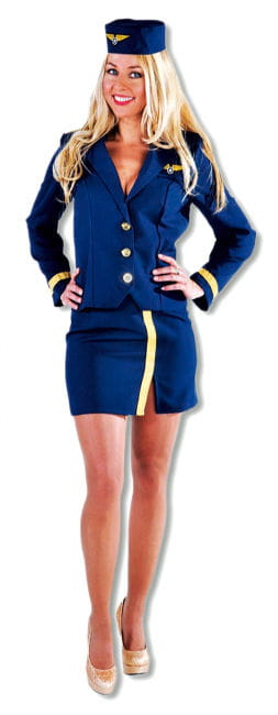 Navy blue stewardess costume