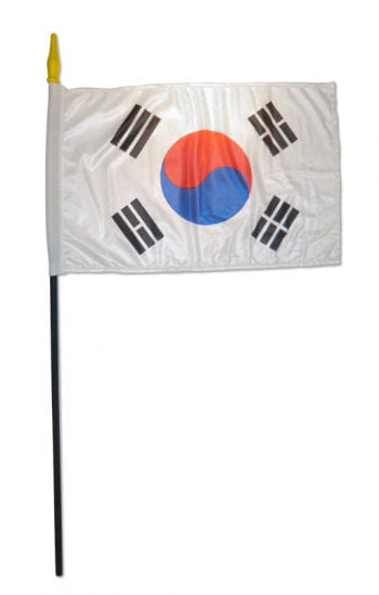 Stock Flag South Korea