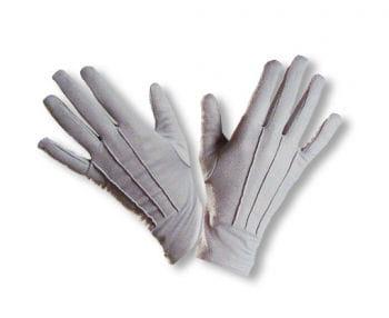 Stoffhandschuh grau