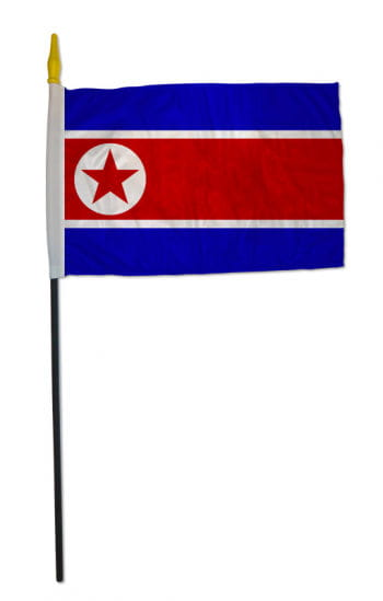 Stock flag North Korea small