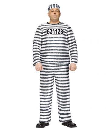 Convict Costume Jailbird XL