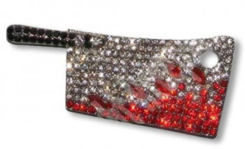 Rhinestone Brooch cleaver