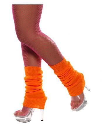 Neon orange legwarmers