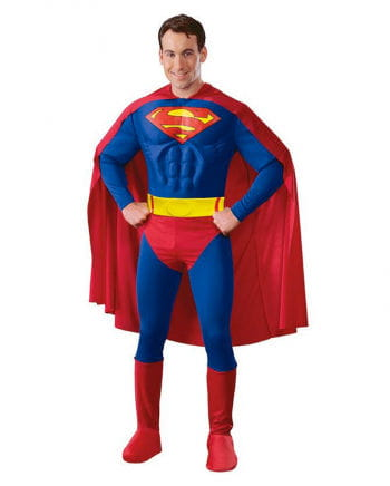 Superman adult costume muscle