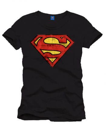 Superman Vintage Logo T-Shirt schwarz