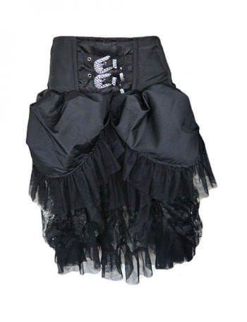 Taffeta skirt with rhinestone application