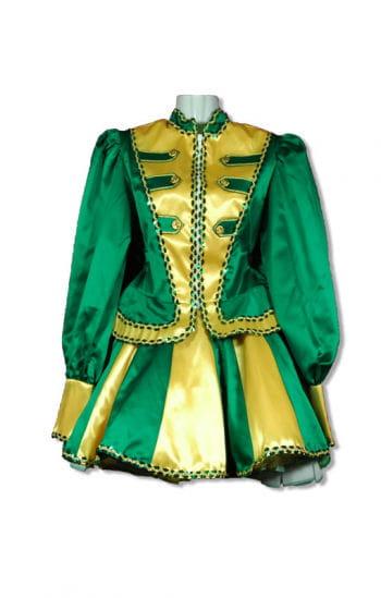 Tanzmariechen Kostüm Premium grün/gold