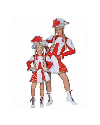 Tanzmariechen Costume red / white