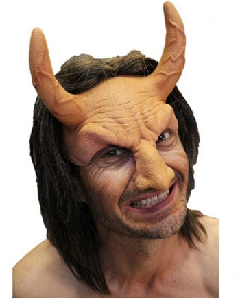 Devil half mask with hair