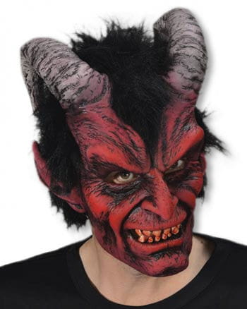 Devil Mask with Horns Red