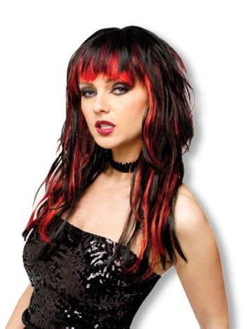 Devil Woman Wig black red