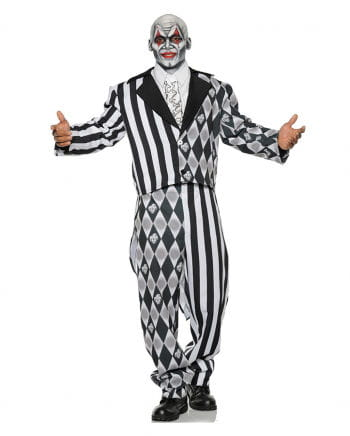 Evil Harlequin Costume black-white