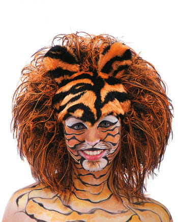 Tiger wig striped plush