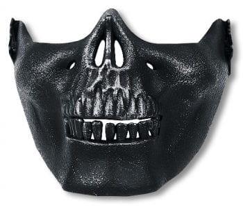 Skull Half Mask Black