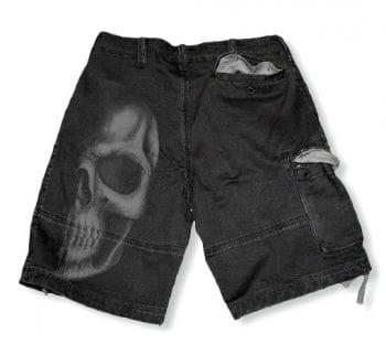 Totenkopf Short grau