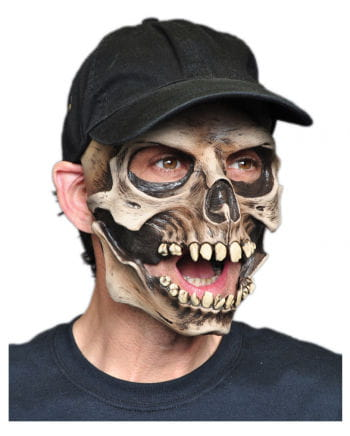 Skull mask with baseball cap