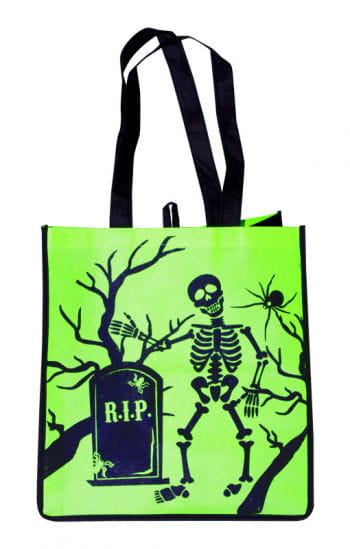 Trick or Treat Fabric Bag Skeleton