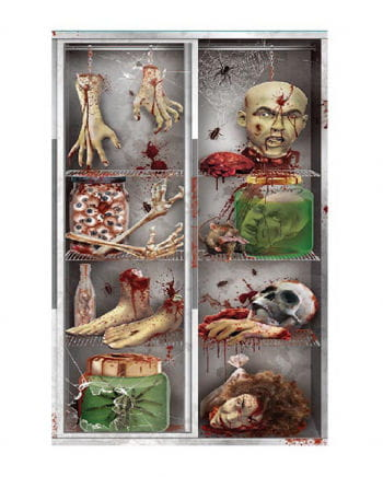 Halloween door film - body parts in the refrigerator