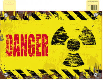 Türschild Radioactive Danger