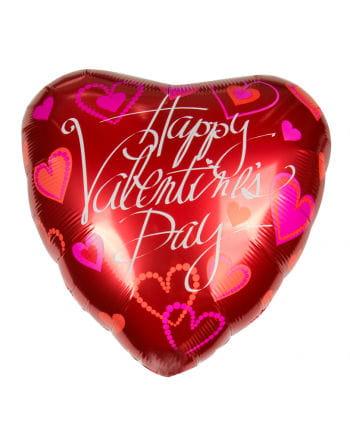 Folienballon mit Happy Valentins Day Gruß