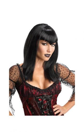 Vampiress Glitter Wig Black