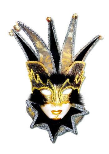 Venetian Jester Mask black