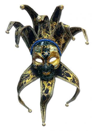 Venezianische Jester Maske dunkelblau