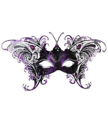 Venezianische Schmetterlingsmaske Schwarz-Violett