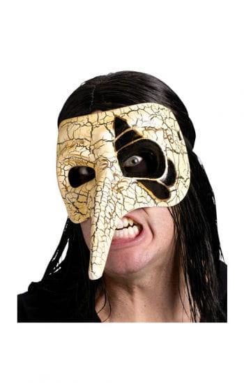 Venezianische Schnabelmaske cremefarben/gold
