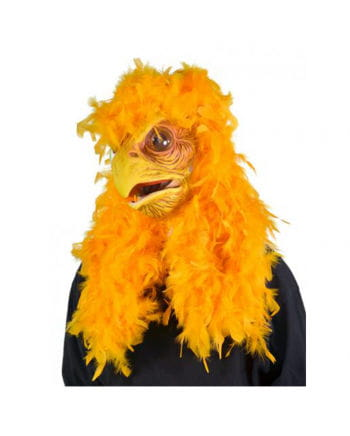 Super Chicken Maske mit Federn
