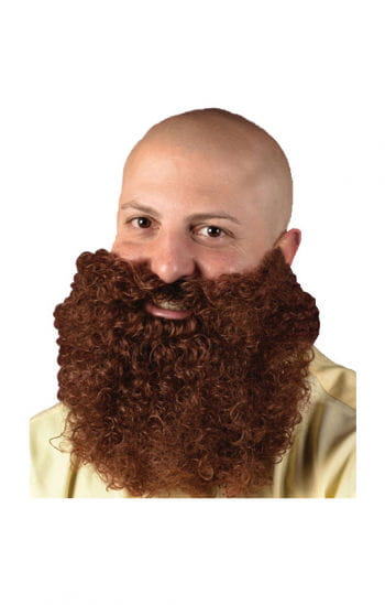 Curly Full Beard Brown
