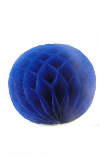 Honeycomb ball blue