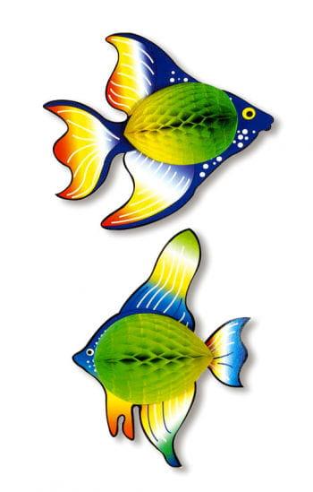 Waben-Fisch grün/gelb