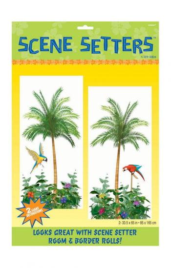 Wall foil palm paradise